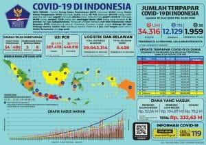 Grafik perkembangan wabah Corona di Indonesia