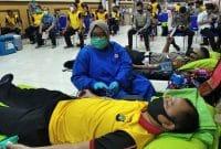 Ratusan Polisi Di Polda Metro Jaya Ikut Donor Darah