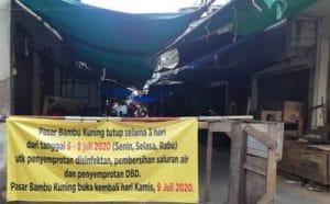 Pasar Di Sunter Agung ditutup