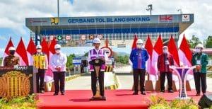 Presiden Resmikan Tol Pertama di Aceh